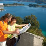 Hohe Gloriette mit Blick auf Pörtschacher Bucht - © Bildarchiv Wörthersee Tourismus GmbH